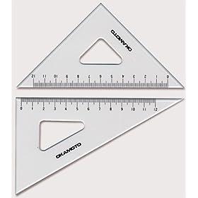 【クリックで詳細表示】面取・目盛付三角定規_規格(150mm)_厚さ(3mm):【製図用品】:210-0123: DIY・工具