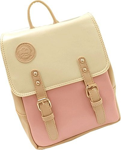 Big Mango Fashion Outdoor Bag SchoolBag Laptop Backpack Soft Satchel Handbag for Female (Pink) (Teenagers Clothes compare prices)