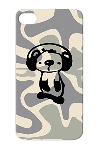 Tpu Animation Music Art Koala Vector Cute Graphic Wildlife Animals Nature Headphones Wild Animal Aus Illustration Animals Autratlia Unique Oceania Animation Oceania Black For Iphone 4 Koala With Protective Hard Case