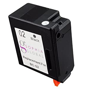 Sophia Global Remanufactured Ink Cartridge Replacement for Canon BC-02 (1 Black)