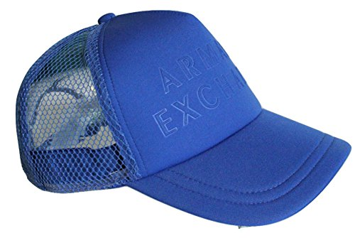 ab165fb698238 Armani Exchange AIX Debossed Logo Baseball Hat Bright Blue Price in India