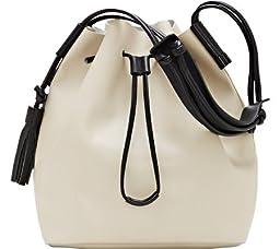 Vince Camuto Lorin Drawstring Shoulder Bag, Parchment/Black, One Size