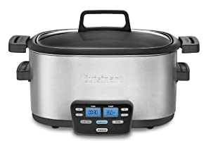Cuisinart MSC-600 3-In-1 Cook Central 6-Quart Multi-Cooker: Slow Cooker, Brown/Saute, Steamer