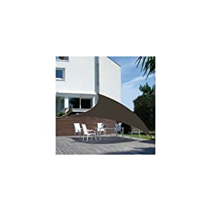 voile d ombrage chocolat voile d ombrage triangulaire dream garden dgvoile360ch amazon. Black Bedroom Furniture Sets. Home Design Ideas