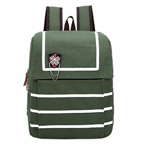 Mode-Streifen Umhaengetasche Rucksack Segeltuch-Schule-Buch-Tasche Lamptop Taschen Laessige