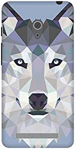 The Racoon Grip Ice Wolf Edged hard plastic printed back case / cover for Asus Zenfone 6 A600CG/A601CG