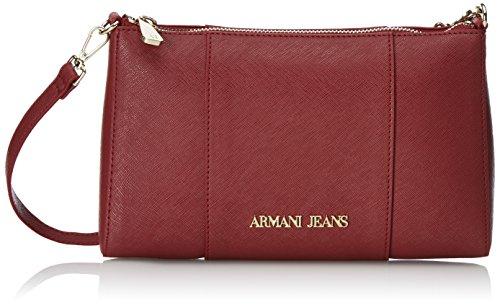 Armani Jeans922544CC857 - Borsa a tracolla Donna , Rosso (Rot (BORDEAUX 00176)), 15x6x24 cm (B x H x T)
