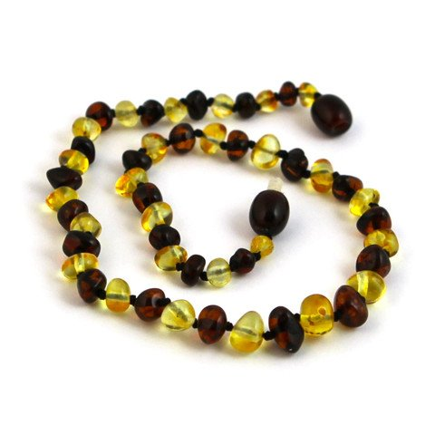 "Hazelaid (TM) 12"" Baltic Amber Lemon & Cherry Necklace"