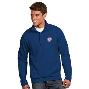 Texas Rangers Victor Half Zip Pullover by Antigua