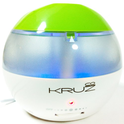 Humidifiers Ultrasonic with a USB -This Cute Mini Portable Humidifier Cool Kruzco Misters – Stylish Compact Energy Efficient Germ-free Vaporizing Technology – Moisture Relief Dry Air Soothes Baby Child Adult Cough Cold Nasal Congestion Chapped Itchy Skin Auto Shut-off No Filter