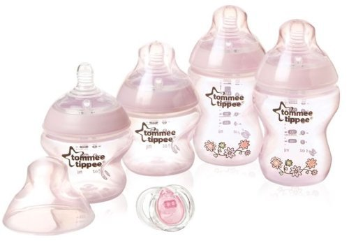 Tommee Tippee Closer to Nature Newborn Decorated Starter Set - Pink - 1