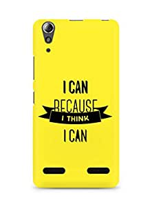 Amez I Can because I Think Back Cover For Lenovo A6000