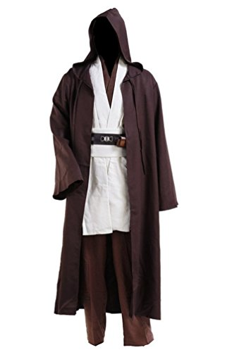 Anime Store Star Wars Jedi Robe Adult Costume Brwon with White Version