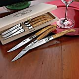 Jean Dubost Laguiole 6-Piece Steak Knives - Olivewood,kitchen accessories