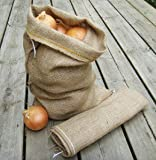 Potato and Onion Vegetable Hessian Storage Sack - Small (45cm x 30cm)