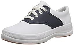 Keds School Days II Sneaker (Little Kid/Big Kid),White/Navy,13.5  S US Little Kid