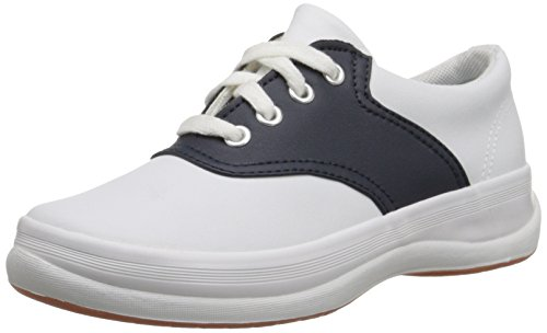 Keds School Days II Sneaker (Little Kid/Big Kid),White/Navy,12.5 M US Little Kid (Saddle Shoes For Girls compare prices)