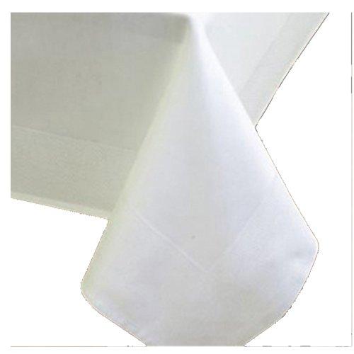 DAMAST Tischdecke ECKIG 80x80 80 x 80 cm Weiss Atlaskante 100% Baumwolle Tischwäsche Tablecloths von DecoHometextil
