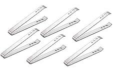 King International Stainless Steel Plain Ice Tong set Of 6 PCs