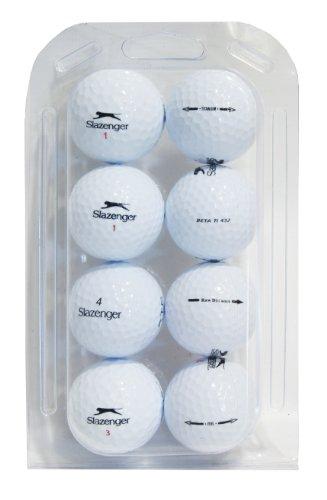 Second Chance Golfbälle 8 Slazenger Qualitäts, weiß, VAL-8-CL-SLA