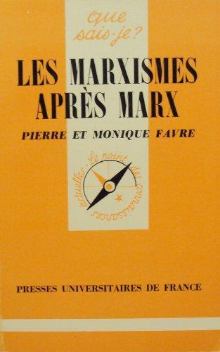 Les  marxismes après Marx
