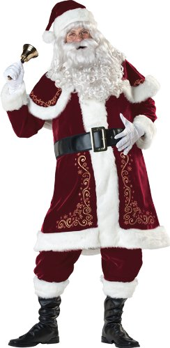 St. Nick Santa Claus Costume Red Suit Christmas - X-Large (46-48) - IC51003XL