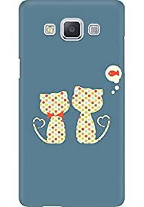 AMEZ designer printed 3d premium high quality back case cover for Samsung Galaxy A5 (cute cat)