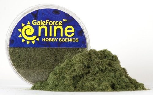 GF9 Hobby Scenics: Dark Green Static Grass - 1