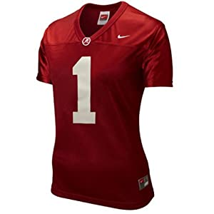 Alabama Crimson Tide Nike #1 Women's Replica Football Jersey - Crimson (Large) by Nike