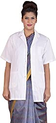 Shree Distributors Women's Doctor Lab Coat Apron (SDF004_XS, White, XS)