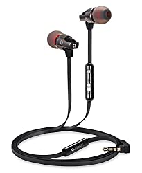 AUDIOMAX EM-7A In-Ear Earphones Headphones with In-Line Microphone for iPhone, iPod, iPad, and Universal Android Smartphones