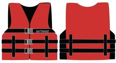 Airhead 10002-03-A-RD Red Nylon Youth Life Vest