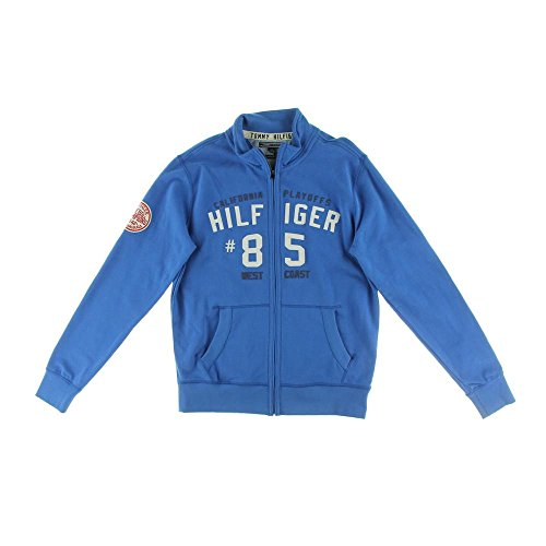 Tommy Hilfiger Mens Vintage Fit Embroidered Jacket Blue S