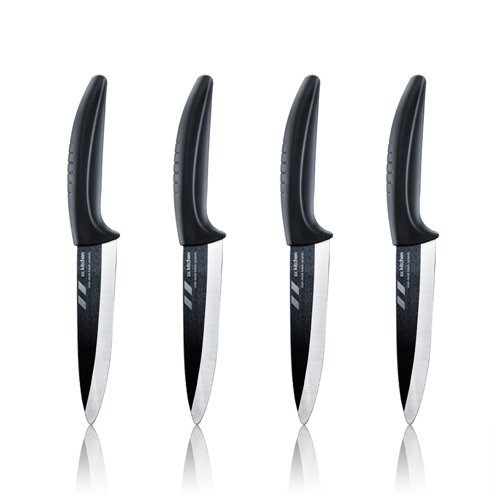 zx kitchen Black Ceramic Knives - Set of four 5