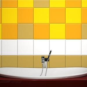 Wandkings Fliesenaufkleber 20 x 20 cm, 300 Stück  ANTHRAZIT GLÄNZEND   Kundenbewertung und Beschreibung