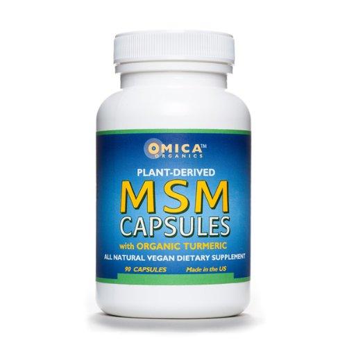 MSM Capsules  Organic Turmeric Oil 90 caps