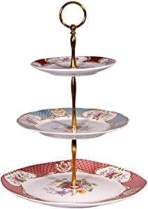 Beautiful 3-tiered Porcelain Serving Trays 13.5 High ~ Fruits, Cakes & Desserts 3... by GF Smart