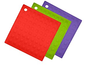 Aroma Bakeware Silicone Trivet Pot Holder (Set of Three) by Aroma Bakeware