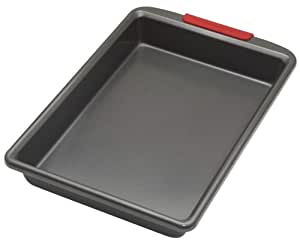 KitchenAid 9-By-13-Inch Baking Pan with Silicone Grip