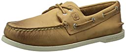 Sperry Top-Sider Men\'s A/O 2 Eye Cross Lace Boat Shoe, Tan 2, 9.5 M US