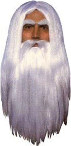Merlin Wig & Beard Adult (One Size)
