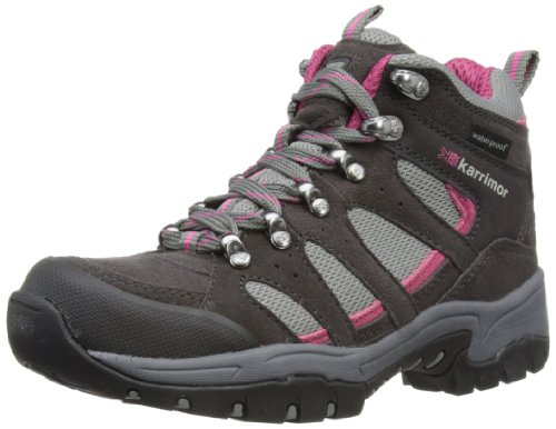 Karrimor Womens Bodmin Mid lll L Weathertite Trekking and Hiking Boots K604-DGC-149 Dark Grey/Cochineal 6 UK, 39 EU, 7 US