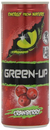 Herbapol Green Up Natural Energy Drink Cranberry 250 ml (Pack of 8)