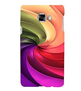PRINTVISA Abstract Colourful Pattern Case Cover for SAMSUNG GALAXY C7