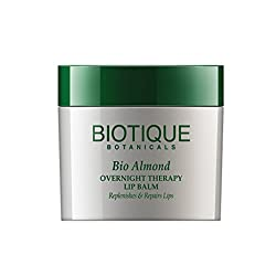 Biotique Bio Almond Overnight Therapy Lip Balm Replenishes & Repairs Lips, 12G