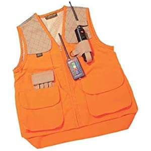 Right Handed Gun Dog Vest in Orange Size: X-Large