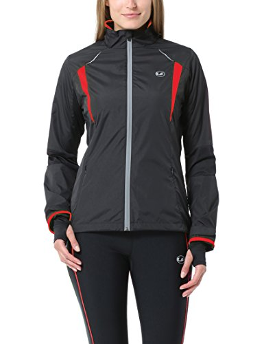 Ultrasport Stretch Delight Felpa Jogging con Zip per Donna Stretch Delight, Nero, M