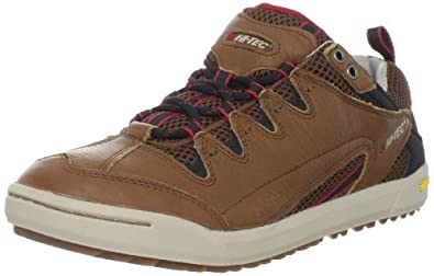 Hi-Tec Men's Sierra Sneaker Fashion Sneaker,Tan/Red,7 M US