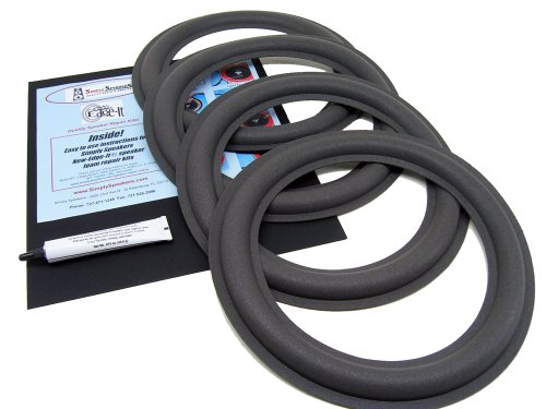 "Carver Amazing Speaker 4-Pack Foam Edge Repair Replacement Kit, 12"" Speakers, Fsk-12Carverx4"