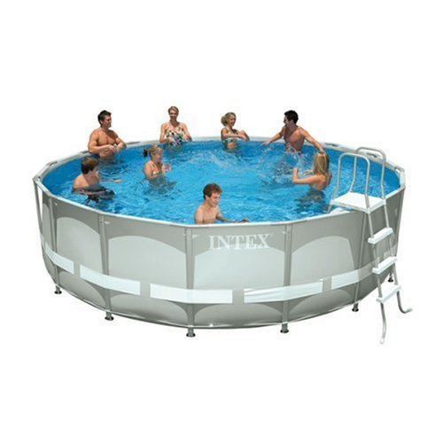 Best cheap 16 39 x 48 intex ultra frame set pool package for Cheap above ground pool packages